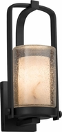 Justice Design FAL-7581W-10-MBLK LumenAria Atlantic Contemporary Matte Black Outdoor Small Wall Lamp