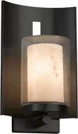 Justice Design FAL-7591W-10-MBLK LumenAria Embark Contemporary Matte Black Outdoor Wall Sconce Lighting