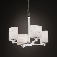 Justice Design FAL-8420 Tetra LumenAria Mini Lighting Chandelier