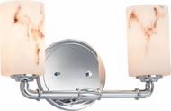 Justice Design FAL-8462 LumenAria Bronx Modern 2-Light Bathroom Lighting