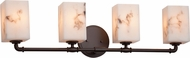 Justice Design FAL-8464 LumenAria Bronx Contemporary 4-Light Lighting For Bathroom