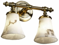 Justice Design FAL-8522-20 LumenAria Traditional Round Flared 2-Light Bathroom Lighting Sconce