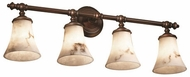 Justice Design FAL-8524-20 LumenAria Traditional Round Flared 4-Light Bath Lighting Sconce