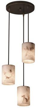 Justice Design FAL-8818-10 LumenAria Pendants Contemporary Multi Drop Ceiling Light Fixture