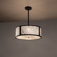Justice Design FAL-9541 Tribeca LumenAria Drum Drop Ceiling Light Fixture