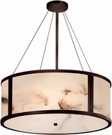 Justice Design FAL-9544-DBRZ LumenAria Tribeca Contemporary Dark Bronze 36  Drum Drop Ceiling Light Fixture