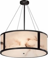 Justice Design FAL-9544-MBLK LumenAria Tribeca Modern Matte Black 36  Drum Drop Lighting Fixture