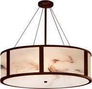 Justice Design FAL-9547-DBRZ LumenAria Tribeca Contemporary Dark Bronze 48  Drum Pendant Lighting