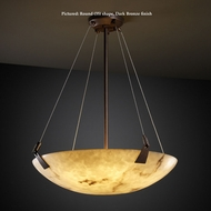 Justice Design FAL-9642 Tapered Clips Small Faux Alabaster LumenAria Hanging Light - Transitional