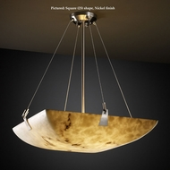 Justice Design FAL-9647 Tapered Clips Large 51 Inch Wide Faux Alabaster Lighting Pendant