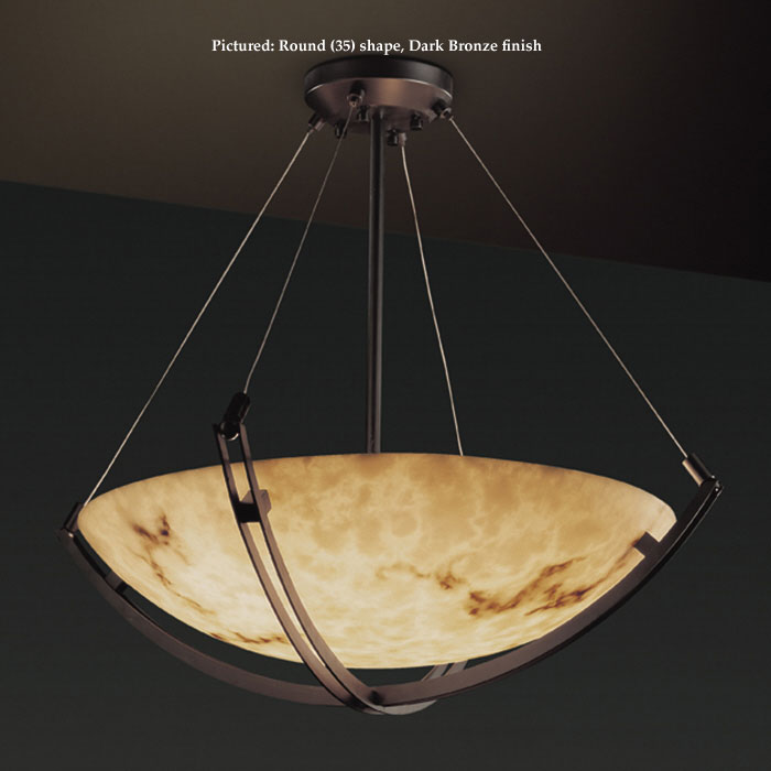 Justice Design Fal 9727 Crossbar Extra Large 8 Lamp Drop Ceiling Light Fixture Faux Alabaster Jus Fal 9727