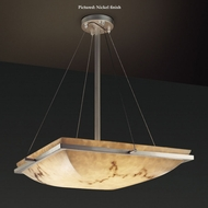 Justice Design FAL-9791-25 Ring Small Semi Flush Faux Alabaster Ceiling Light - 20 Inches Wide