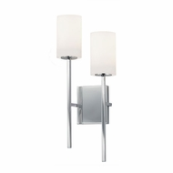 Justice Design FSN-4022-OPAL-CROM Fusion Rise Contemporary Polished Chrome LED Wall Mounted Lamp