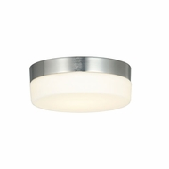 Justice Design FSN-4131-OPAL-NCKL Fusion Pixel Contemporary Brushed Nickel LED 7  Ceiling Light Fixture