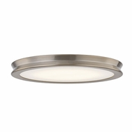Justice Design FSN-4182-OPAL-BRSS Fusion Bevel Contemporary Brushed Brass LED 16.5  Overhead Lighting Fixture
