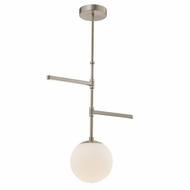 Justice Design FSN-4255-OPAL-BRSS Fusion Intersect Contemporary Brushed Brass LED Drop Lighting