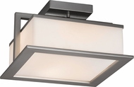 Justice Design FSN-7517W Fusion Laguna Modern LED Outdoor Flush Mount Ceiling Light Fixture