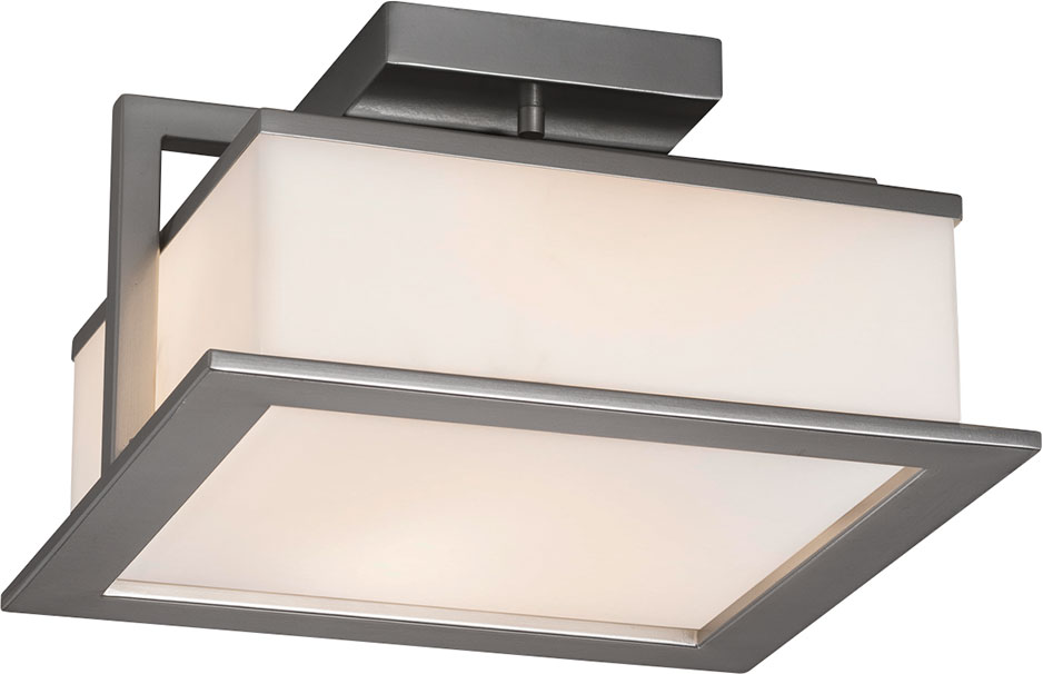 Justice Design Fsn 7517w Fusion Laguna Modern Led Outdoor Flush Mount Ceiling Light Fixture Jus Fsn 7517w
