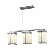 Justice Design FSN-7540W Fusion Pacific Contemporary LED Exterior Island Lighting