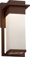 Justice Design FSN-7541W-WEVE Fusion Pacific Modern LED Exterior Small Wall Light Sconce