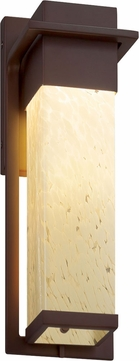 Justice Design FSN-7544W-DROP-DBRZ Fusion Pacific Contemporary Dark Bronze LED Outdoor Large Wall Sconce Light