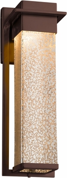 Justice Design FSN-7544W-MROR-DBRZ Fusion Pacific Modern Dark Bronze LED Exterior Large Wall Lighting