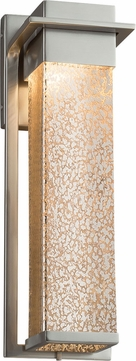 Justice Design FSN-7544W-MROR-NCKL Fusion Pacific Modern Brushed Nickel LED Exterior Large Light Sconce