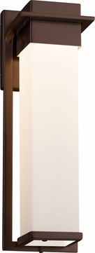 Justice Design FSN-7544W-OPAL-DBRZ Fusion Pacific Contemporary Dark Bronze LED Outdoor Large Lighting Sconce