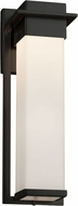 Justice Design FSN-7544W-OPAL-MBLK Fusion Pacific Modern Matte Black LED Exterior Large Lamp Sconce