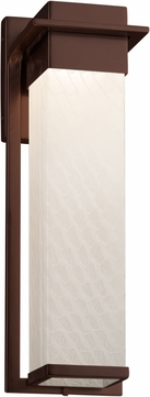 Justice Design FSN-7544W-WEVE-DBRZ Fusion Pacific Contemporary Dark Bronze LED Outdoor Large Wall Sconce Lighting