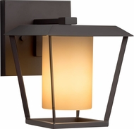 Justice Design FSN-7551W-10-ALMD-MBLK Fusion Patina Contemporary Matte Black Outdoor Small Wall Light Sconce