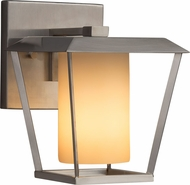 Justice Design FSN-7551W-10-ALMD-NCKL Fusion Patina Modern Brushed Nickel Exterior Small Wall Sconce Light