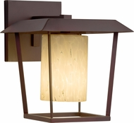 Justice Design FSN-7551W-10-DROP-DBRZ Fusion Patina Contemporary Dark Bronze Outdoor Small Wall Sconce