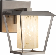 Justice Design FSN-7551W-10-DROP-NCKL Fusion Patina Contemporary Brushed Nickel Outdoor Small Wall Lighting