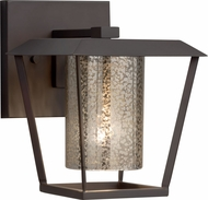 Justice Design FSN-7551W-10-MROR-MBLK Fusion Patina Contemporary Matte Black Outdoor Small Light Sconce