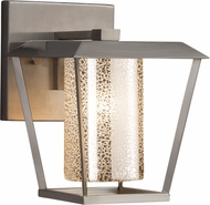 Justice Design FSN-7551W-10-MROR-NCKL Fusion Patina Modern Brushed Nickel Exterior Small Lighting Sconce