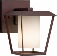 Justice Design FSN-7551W-10-OPAL-DBRZ Fusion Patina Contemporary Dark Bronze Outdoor Small Lamp Sconce