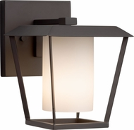 Justice Design FSN-7551W-10-OPAL-MBLK Fusion Patina Modern Matte Black Exterior Small Wall Sconce Lighting