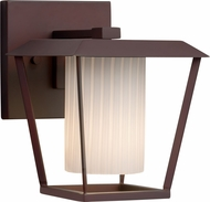 Justice Design FSN-7551W-10-RBON-DBRZ Fusion Patina Modern Dark Bronze Exterior Small Lighting Wall Sconce