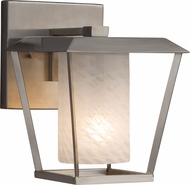 Justice Design FSN-7551W-10-WEVE Fusion Patina Contemporary Outdoor Small Wall Mounted Lamp