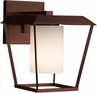 Justice Design FSN-7554W-10-OPAL Fusion Patina Contemporary Outdoor Large Wall Sconce Light