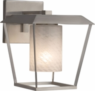Justice Design FSN-7554W-10-WEVE-NCKL Fusion Patina Contemporary Brushed Nickel Outdoor Large Sconce Lighting