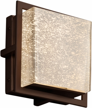 Justice Design FSN-7561W-MROR-DBRZ Fusion Avalon Modern Dark Bronze LED Exterior Square Light Sconce