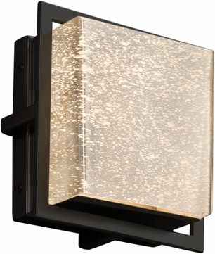 Justice Design FSN-7561W-MROR-MBLK Fusion Avalon Contemporary Matte Black LED Outdoor Square Lighting Sconce