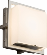 Justice Design FSN-7561W-OPAL-NCKL Fusion Avalon Contemporary Brushed Nickel LED Outdoor Square Lighting Wall Sconce