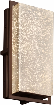 Justice Design FSN-7562W-MROR-DBRZ Fusion Avalon Contemporary Dark Bronze LED Outdoor Small Wall Light Sconce