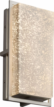 Justice Design FSN-7562W-MROR-NCKL Fusion Avalon Contemporary Brushed Nickel LED Outdoor Small Wall Light Sconce