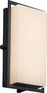 Justice Design FSN-7562W-OPAL-MBLK Fusion Avalon Contemporary Matte Black LED Outdoor Small Wall Sconce