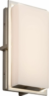Justice Design FSN-7562W-OPAL-NCKL Fusion Avalon Modern Brushed Nickel LED Exterior Small Wall Lamp
