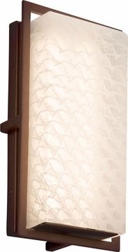 Justice Design FSN-7562W-WEVE-DBRZ Fusion Avalon Contemporary Dark Bronze LED Outdoor Small Wall Lighting